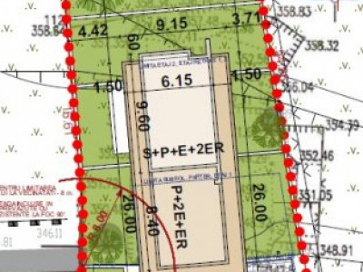 Teren autorizat   1216 mp   15 apartamente   zona Parcul Central!
